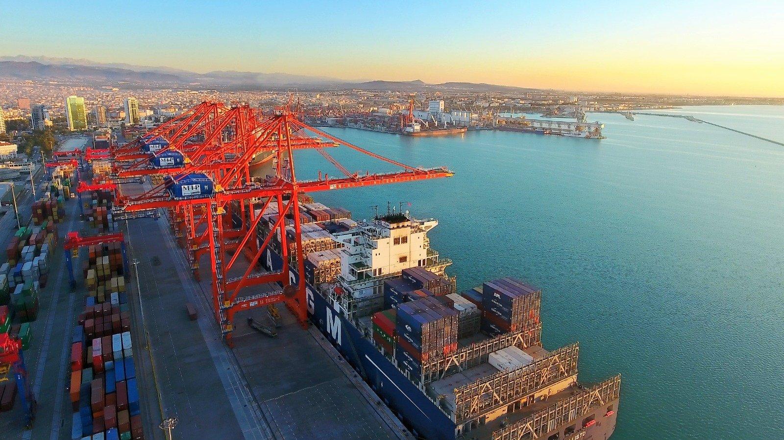 Turkey's shipping port, Mersin
